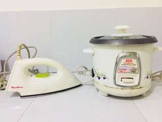Moulinex Iron and 3D Rice Cooker