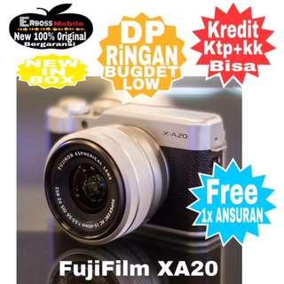 Fujifilm XA20 KIT 15-45MM+35MM F/2.0 R WR Resmi Cash/kredit Dp1jt Call/wa;081905288895