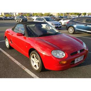 1997 MG MGF Roadster 1.8i VVC Coupe.