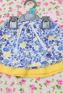 New Mothercare baby skirts set