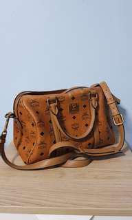 MCM classic Boston bag in Cognac Leather
