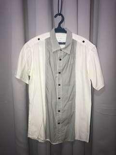 Brett White Black Short Sleeves Polo Shirt