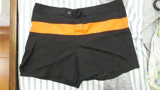 Board shorts for swimming