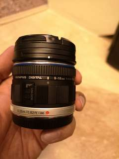 Olympus 9-18mm micro four thirds lens m43 mft