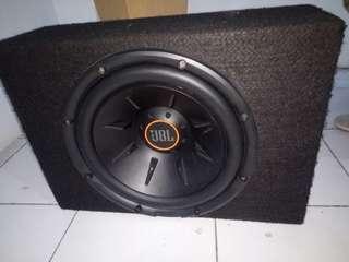 Speaker aktif subover JBL dan Power amplifier