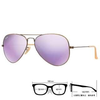 🚚 😍 正品熱銷 😍[檸檬眼鏡] RayBan RB3025 167 4K  旭日原廠公司貨 紫水銀墨鏡 義大利製 -3