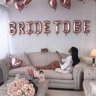 BN: bride to be balloons 16""