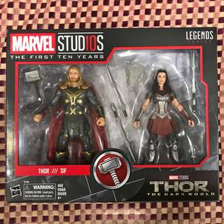 Marvel Legends: Thor & Sif - Marvel Studios The First Ten Years Series