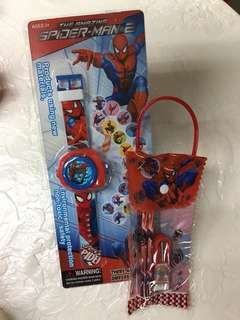 Spider-Man Projection Watch Bundle Set