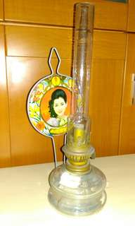 Vintage Chinese Large Oil Lamp .