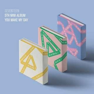 [PREORDER] SEVENTEEN (세븐틴) - 미니 5집 YOU MAKE MY DAY