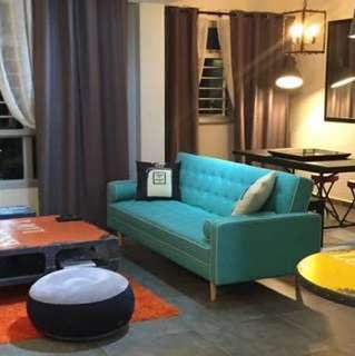 Turquoise / Mint Sofabed (3 seater)