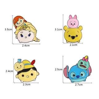 disney tsum tsum cute character enamel pins