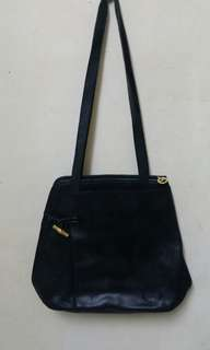 LONG CHAMP made in franc leather shoulder bag