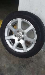 "Honda 16"" stock rims with tyres"