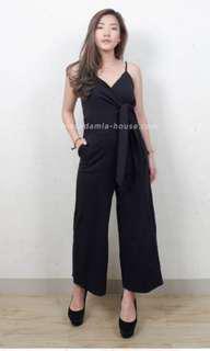 JS black plain jumpsuit