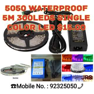 5050 Waterproof Single Colour Led strip light and Accessories