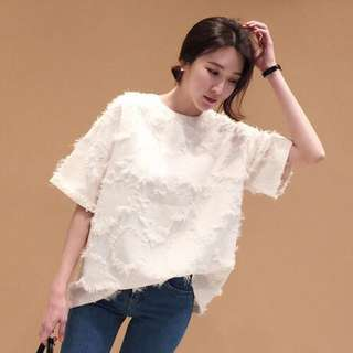🚚 [BNIS] One Coloured Blouse with Frill Details (from Korea)