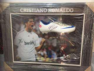CR7 Autographed Mercurial Display