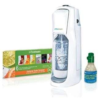 576 SodaStream Fountain Jet Home Soda Maker Starter Kit, White