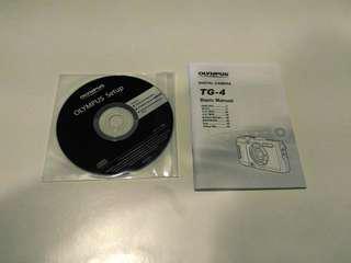 Manual and CD Olympus Tg 4
