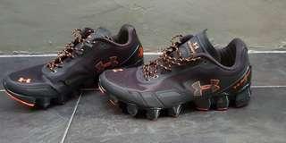 Sepatu Under Armour Black Orange ORIGINAL