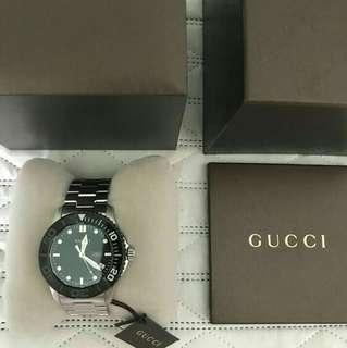 GUCCI Sports G Timeless Pantheon 126.2 Watch Men's Quartz SS Swiss Made
