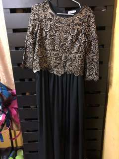 Dress metalic black + gold
