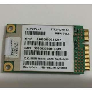 GOBI2000 WWAN 3G GPS FRU 60Y3183 for Lenovo ThinkPad
