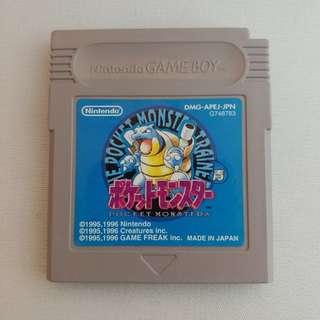 Gameboy Pokemon Pocket Monsters Game Boy Blue