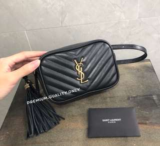 Boutique Quality YSL Lou Belt Bag- black