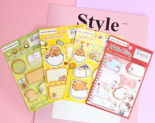 Instocks Sanrio Original Sticky Memo Post it notes