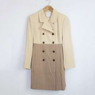 (S-M) Ginnie Dori Vintage Brown Long Coat / Dress