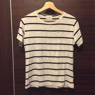🚚 [夏。衣料]基本款黑白條紋T