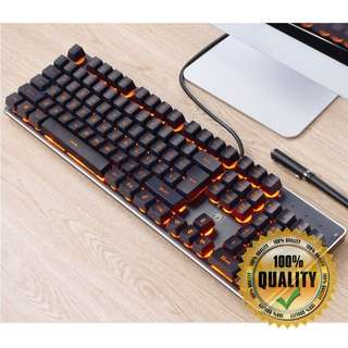 🚚 BNIB Mystic Orange Gaming Keyboard MY13