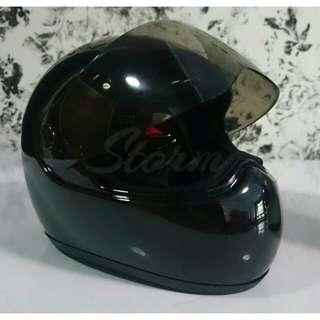 BLACK Mini Fullface Motorcycle Helmet For Display Only