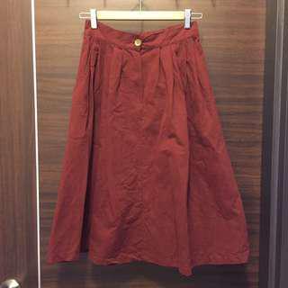 🚚 [下身。衣料]酒紅傘裙