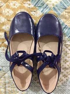 Zara Girls Strappy Ballet Flats (Size 30)