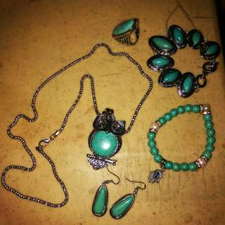 Necklace, Earings, Bracelet and Ring