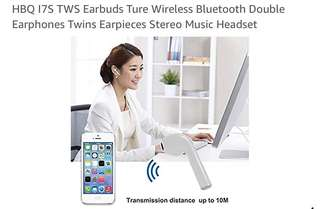 440• HBQ I7S TWS Earbuds Ture Wireless Bluetooth Double Earphones Twins Earpieces Stereo Music Headset