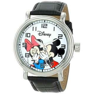 Men's Watch Disney Mickey Mouse Leather Black W000857