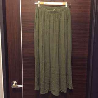 🚚 [下身。衣料]Pazzo墨綠長裙