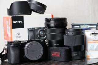 Sony A6000 Combo Package With Two Lenses