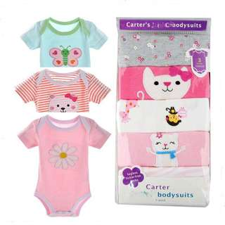 READY STOCK: BABY'S CARTER ROMPERS (5 PIECES) - ASSORTED DESIGN
