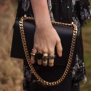Jewel Skull Chained Two Ways Bag