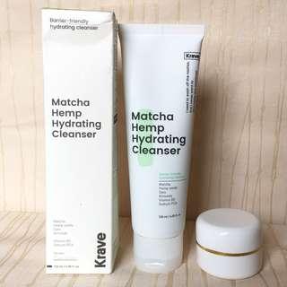 KRAVE BEAUTY matcha hemp hydrating cleanser (10ml)