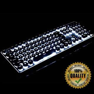 🚚 BNIB Vintage Modern Gaming Keyboard VI52