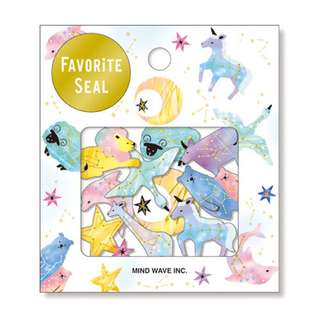 🚚 Pastel Animal Kingdom with Gold Foil Scrapbook / Planner Stickers #174