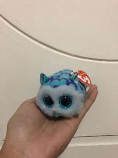 "CUTE ""TY"" TEENY TOYS OWL AND DOG"