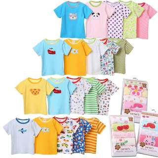 READY STOCK: BABY'S CARTER SHIRT (5 PIECES) - ASSORTED DESIGN